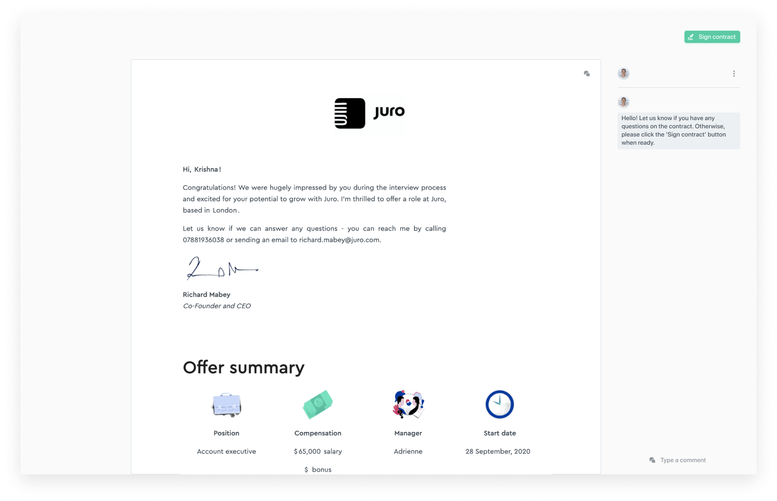 juro-employment-offer-letter-UI